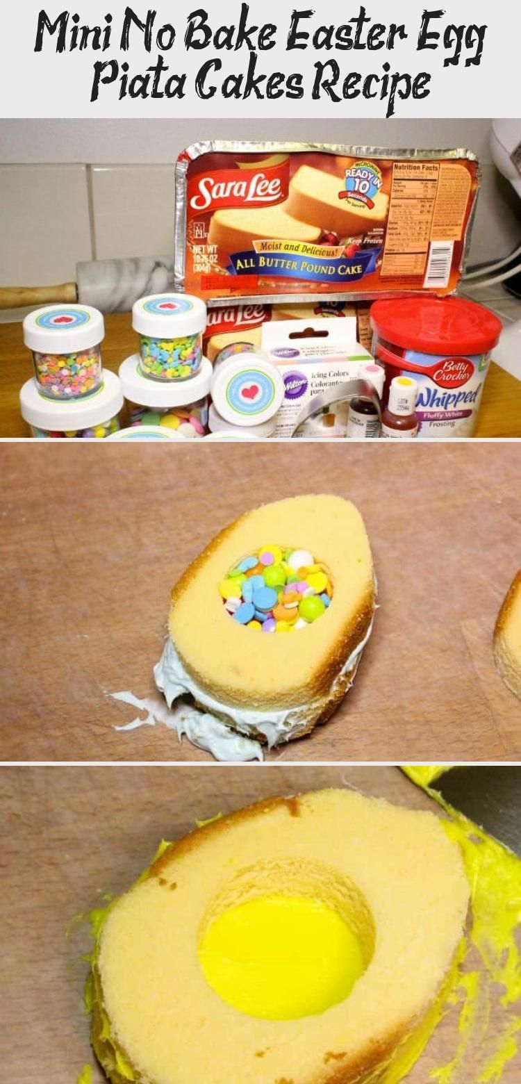Photo of Mini No Bake Osterei Pinata Kuchen Rezept mit Sara Lee Pound Cake von V … –  M…