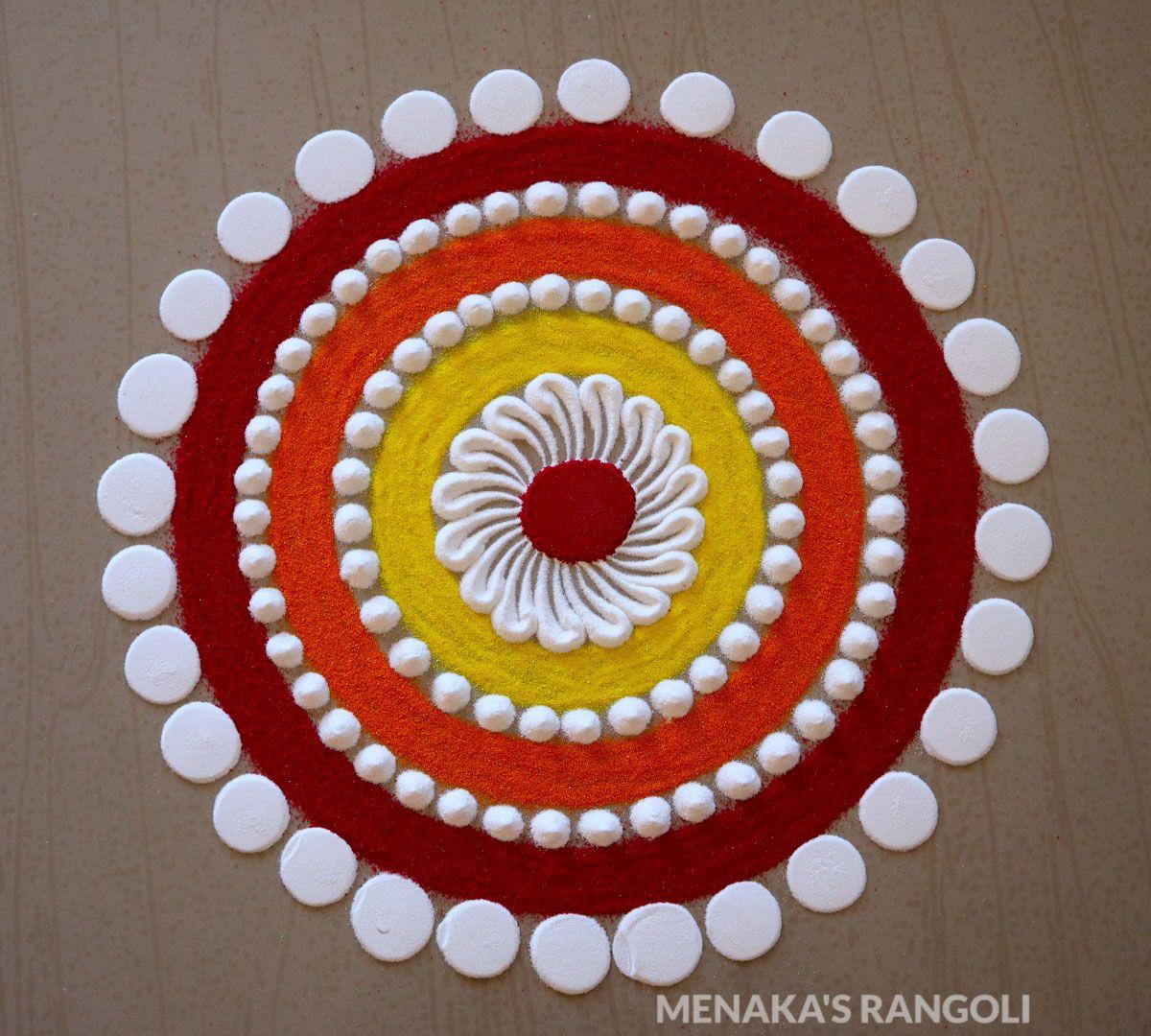 Easy And Simple Beginners Rangoli Design Small Rangoli