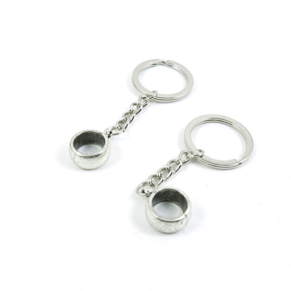 1 Pieces Keychain Door Car Key Chain Tags Keyring Ring Chain Keychain  Supplies Antique Silver Tone Wholesale Bulk Lots Thick Ring     Don t get  left behind ce239b1b5e
