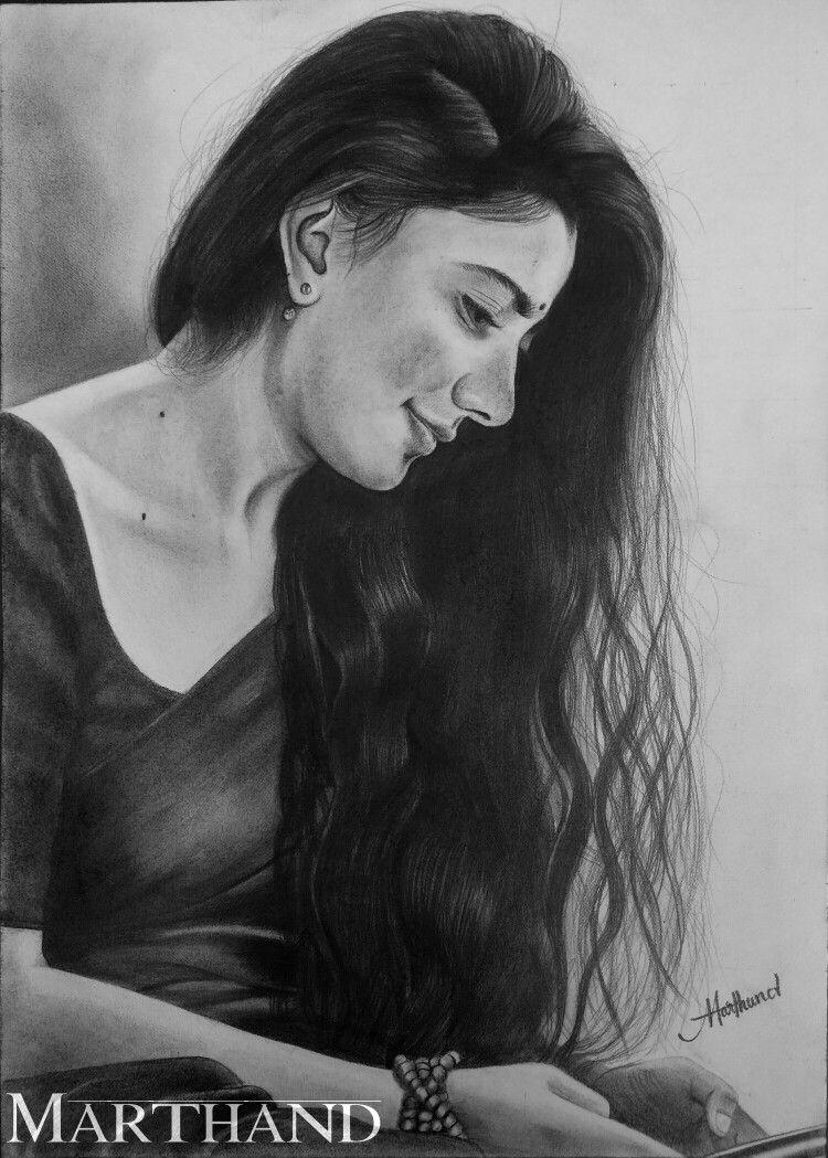 Sai Pallavi Pencil Drawing