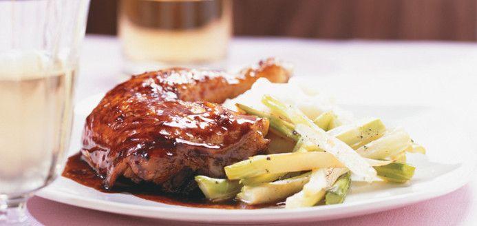 Maple Glazed Chicken Thighs Ricardo Recipe Maple Glazed Chicken Recipes Glazed Chicken
