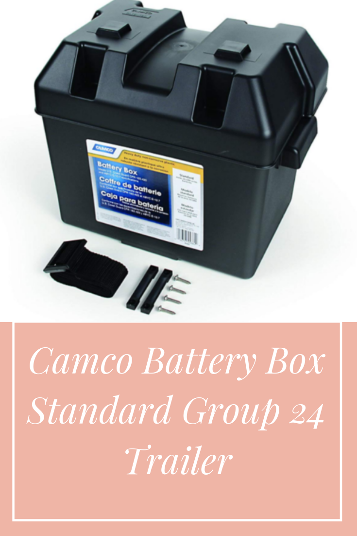 Group 24 Camco 55363 Standard Battery Box