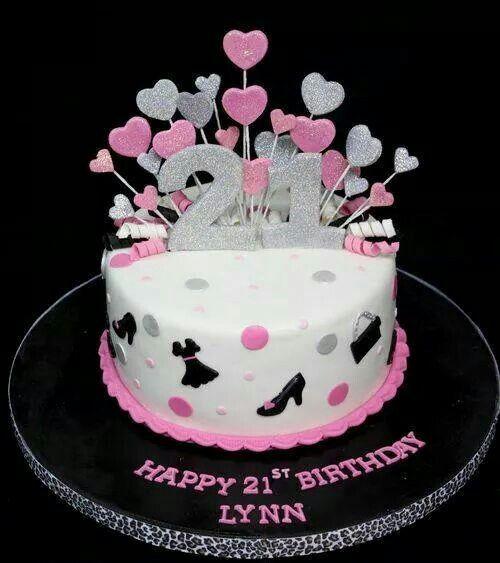 21st Birthday Cake BirthdayParty Cakes and Desserts Pinterest