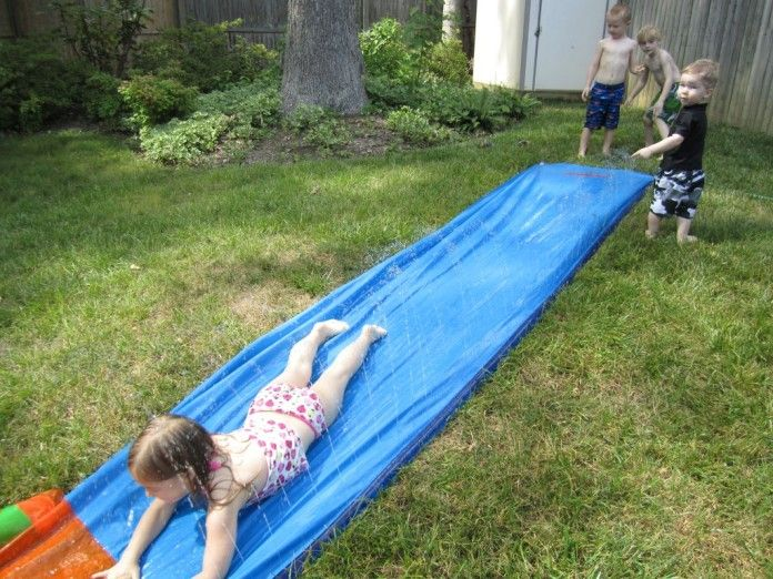 Want to keep the kids happy and cool as cucumbers this summer? Two words: water slide.