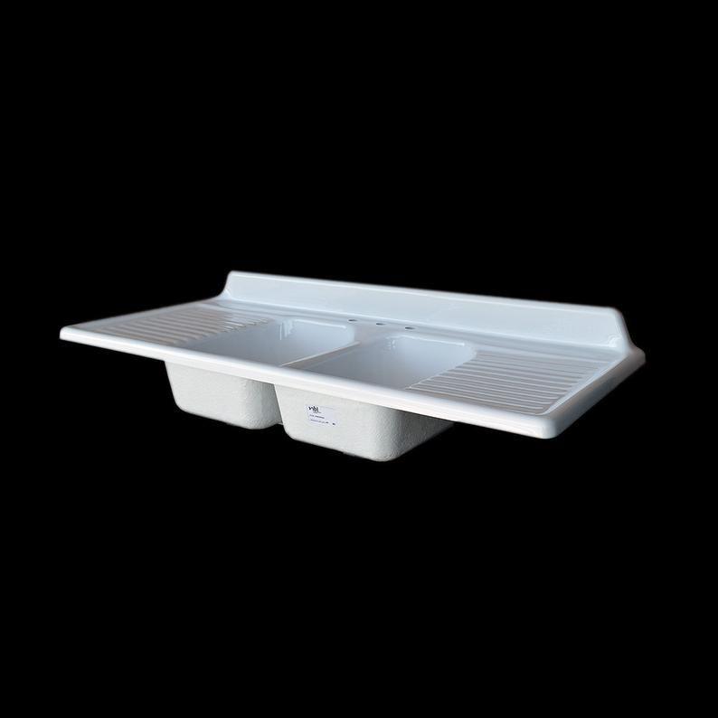60 x 25 double bowl double drainboard farmhouse etsy in