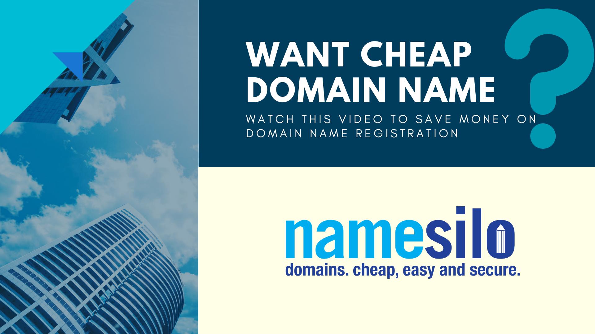 How to Register Cheapdomainname domain website