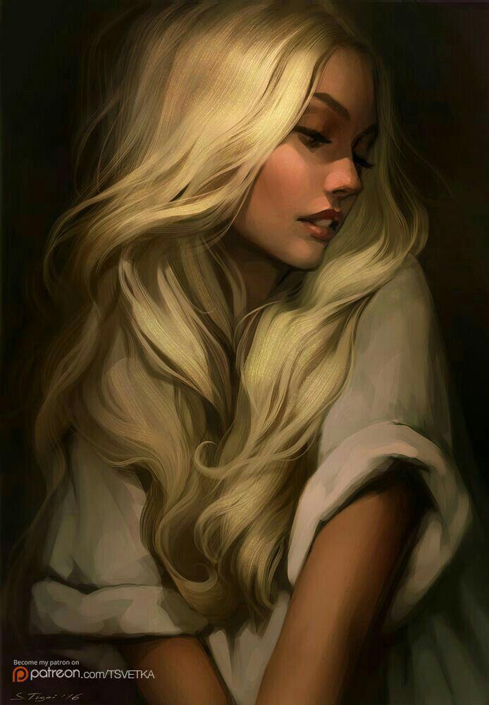 White Hair Digital Art Girl Portrait Blonde Girl