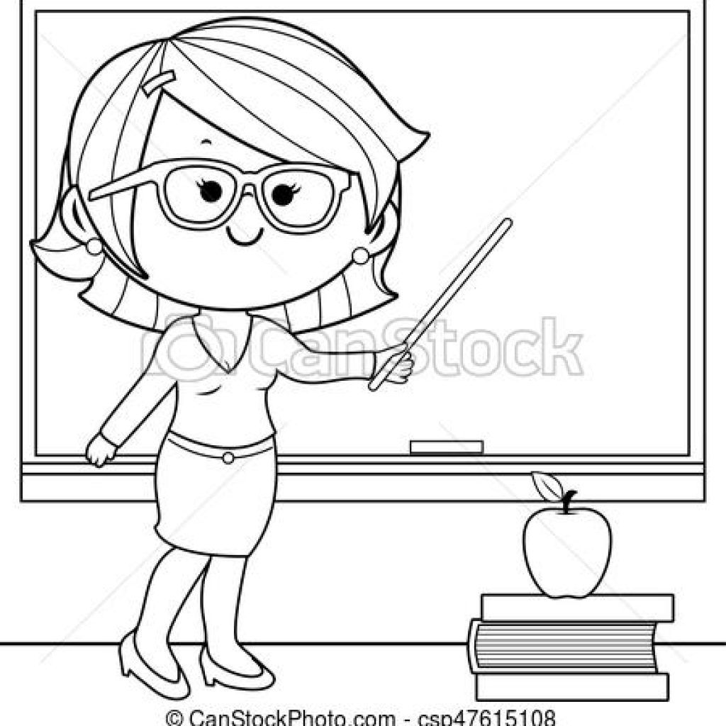 Teacher Clipart Black And White Math Clipart Teacher Clipart