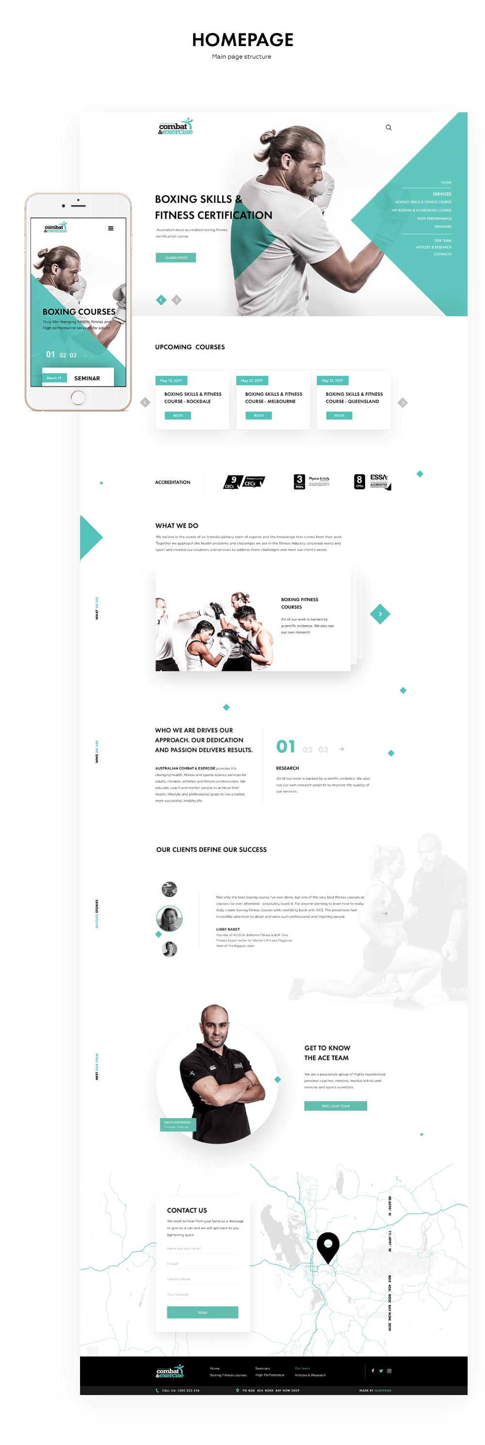 Australian Combat Exercise Website Design On Behance Corporate Website Design Website Design Services Exercise Website