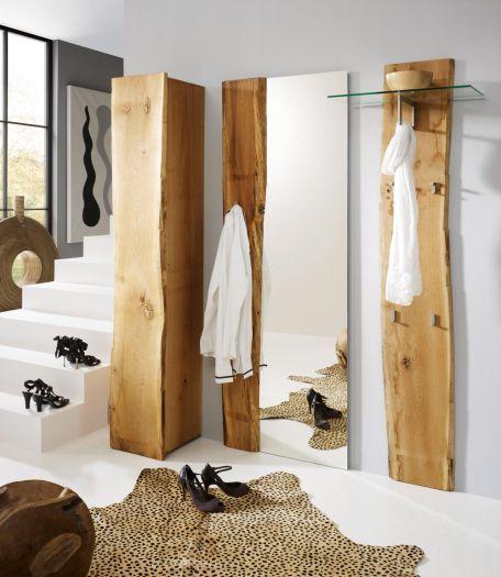Hochschrank mit 1 t r woodline eiche massiv ge lt massivholzm bel online kaufen wood4u for Wohnungseinrichtung kaufen