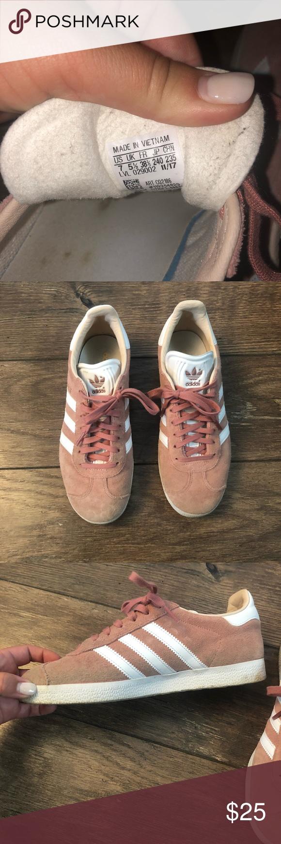 Adidas pink gazelle size 7 | Pink