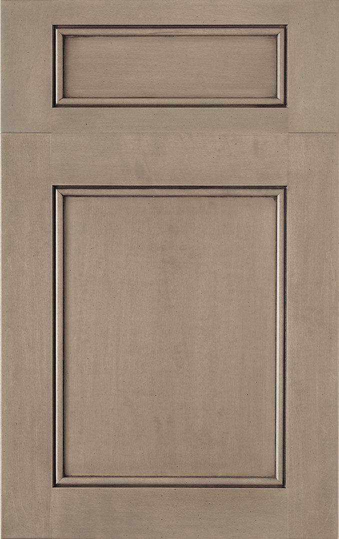 brandywine recessed woodmode fine custom cabinetry shown in harbor mist with pewter