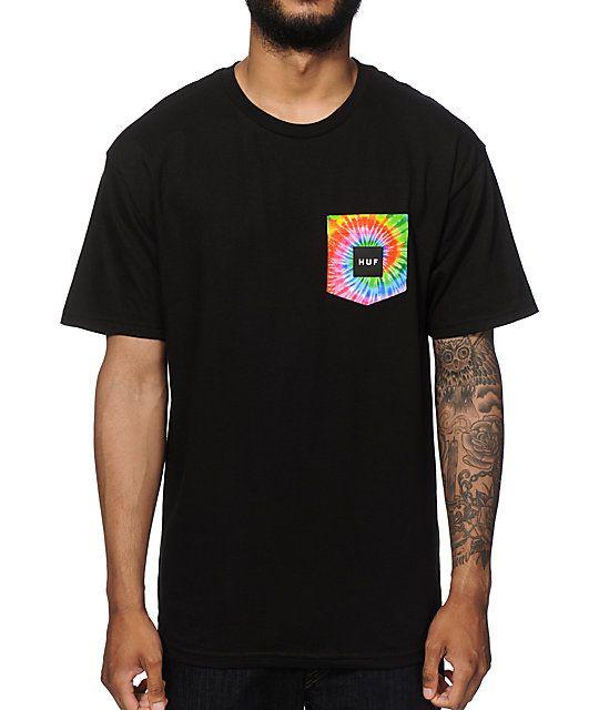 HUF Tie Dye Logo Pocket T-Shirt | Zumiez