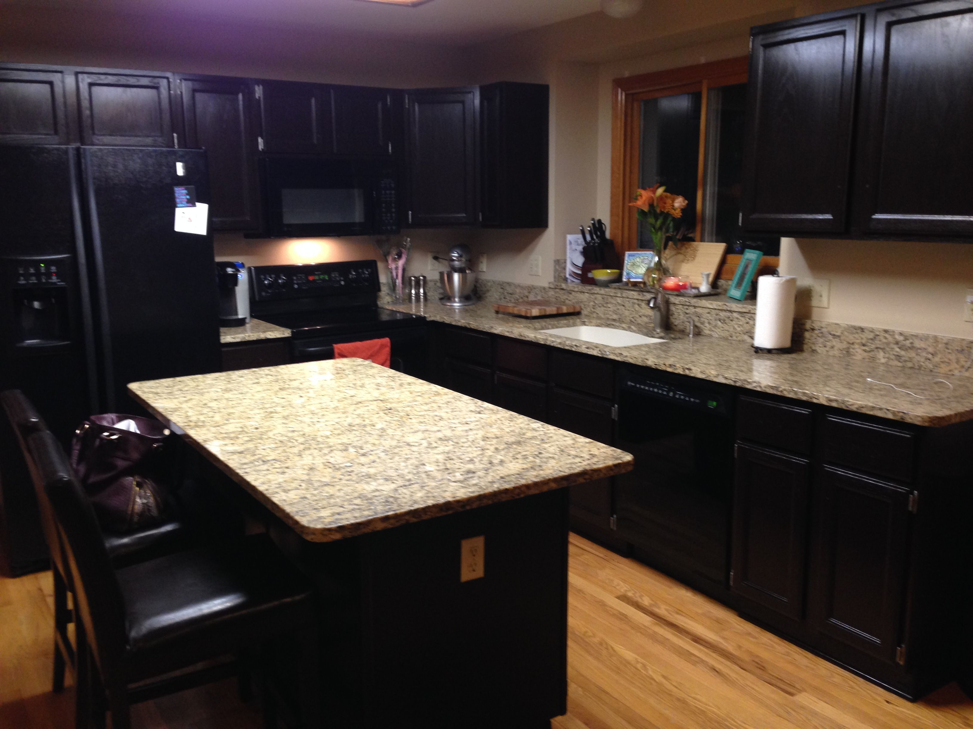 Java Gel Stain With Black Appliances For The Home