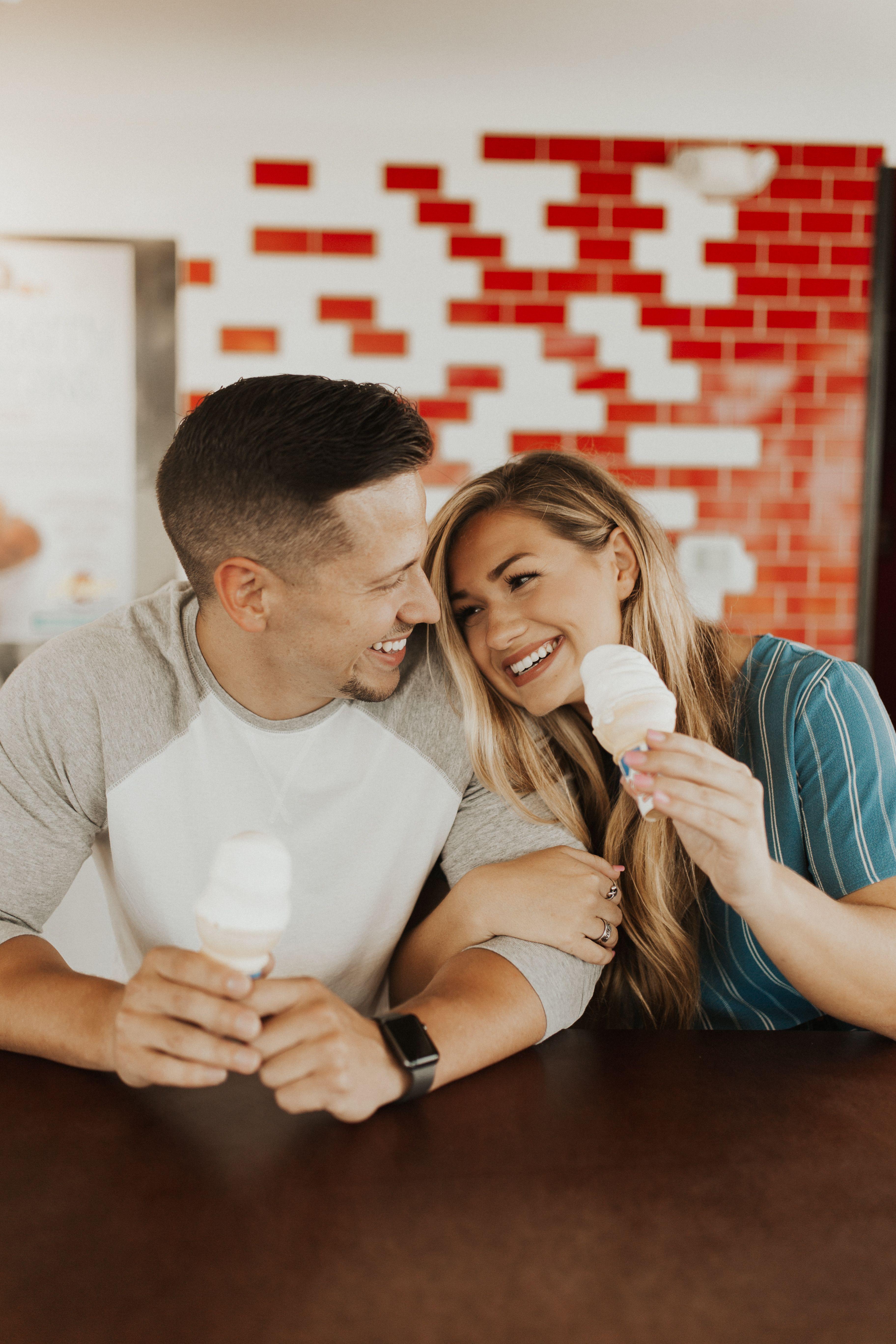 Oklahoma ice cream date// Couples session// www.instagram