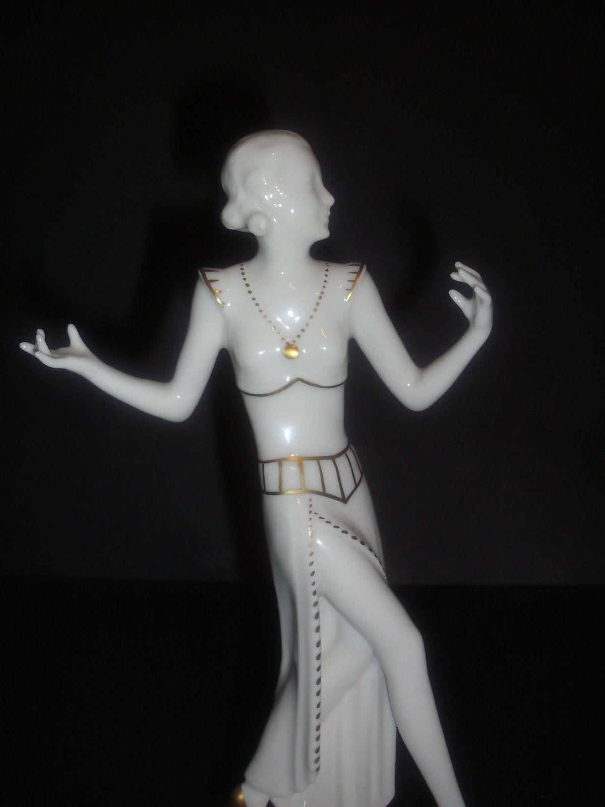 Hutschenreuther Art Deco Style Nude Figurine by C. Werner