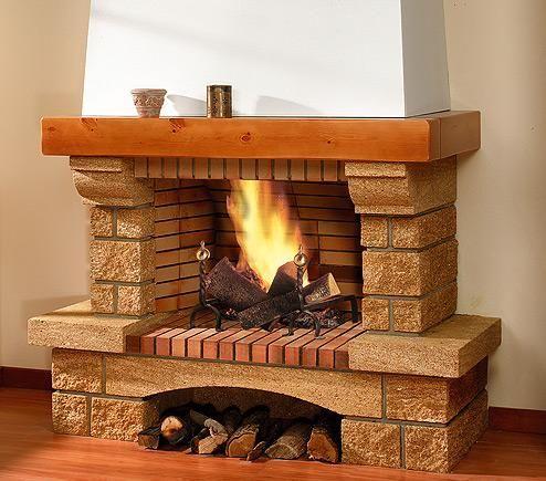 Resultado de imagen para chimeneas rusticas de obra - Revestimientos de chimeneas rusticas ...