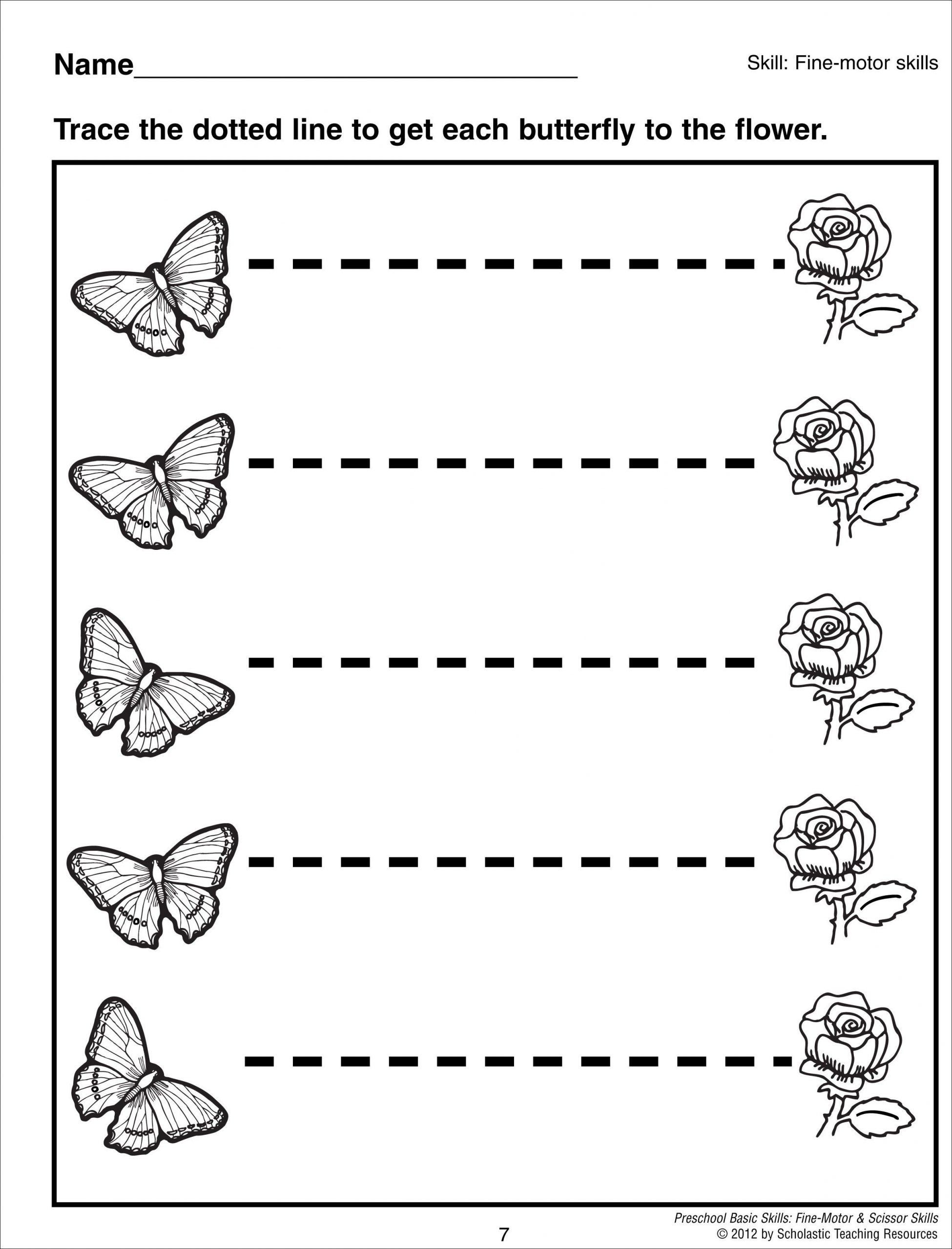 Tracing Lines Worksheets For Preschoolers 28 Dotted Line
