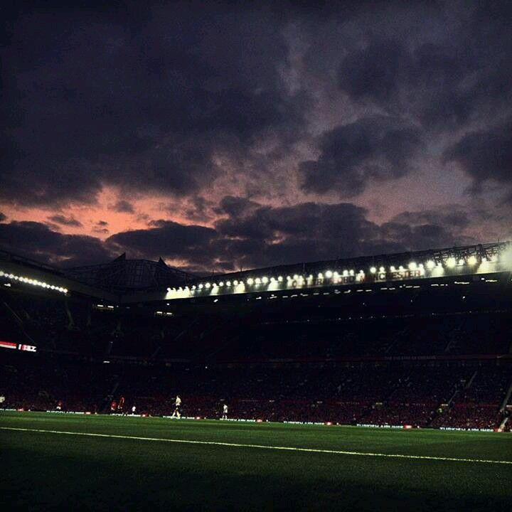 Champions League Night At Old Trafford Old Trafford Soccer Manchester United