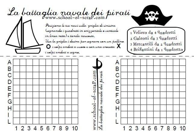 Giochi per bambini la battaglia navale dei pirati da - Pirata colorazione pirata stampabili ...