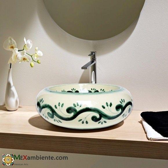 Mexambiente, mexican sink, mexikanische Waschbecken, buntes - badezimmer fliesen design