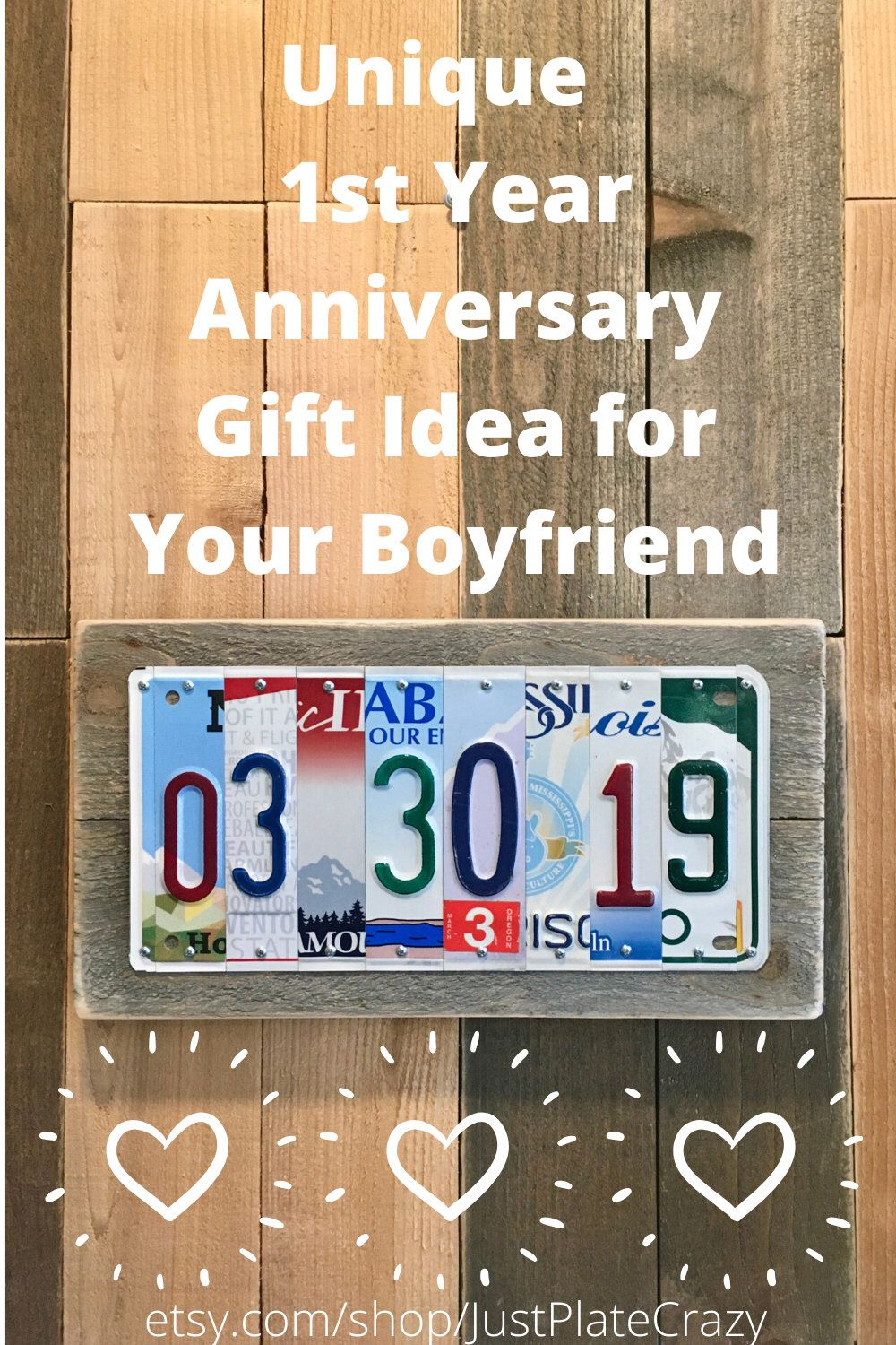 1 Year Anniversary Gifts For Boyfriend 1st Year Anniversary Etsy In 2020 Anniversary Gift Ideas For Him Boyfriend Year Anniversary Gifts 10 Year Anniversary Gift