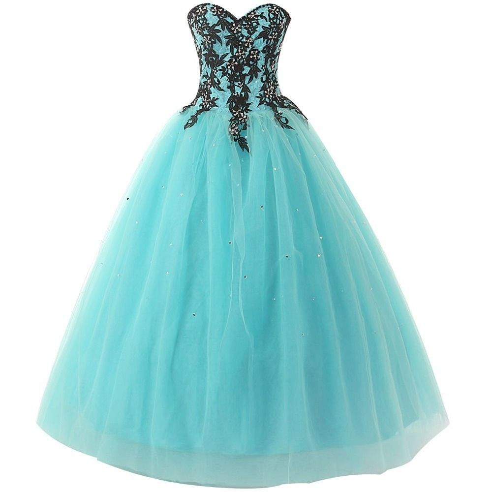 Sweetheart prom dresses long tulle prom gowns princess puffy