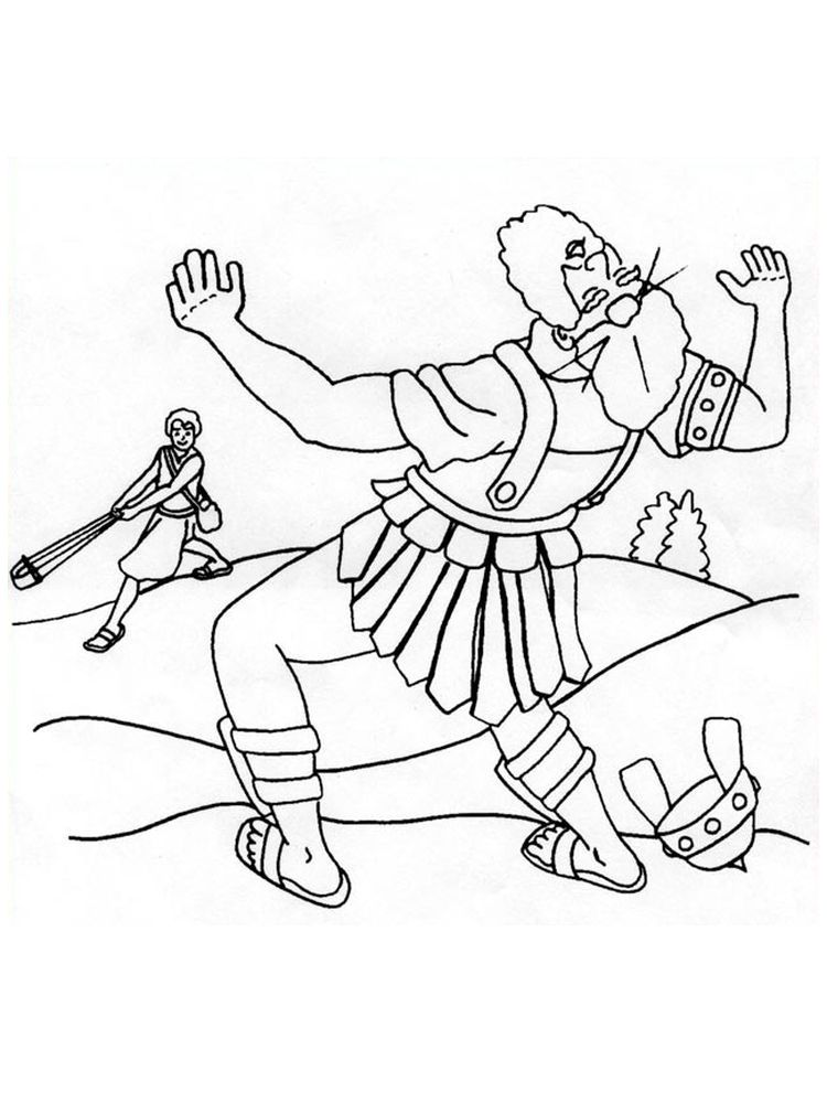 David And Goliath Coloring Pages Pict You Must Have Heard About The Story Of David And Goliath How Can A Small Iron David And Goliath Coloring Pages Goliath