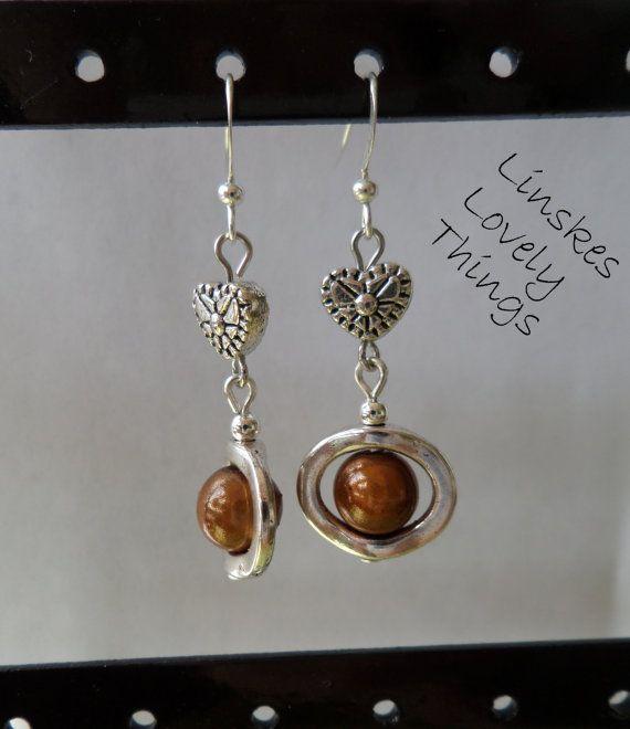 Hoopies collection handmade earrings brown