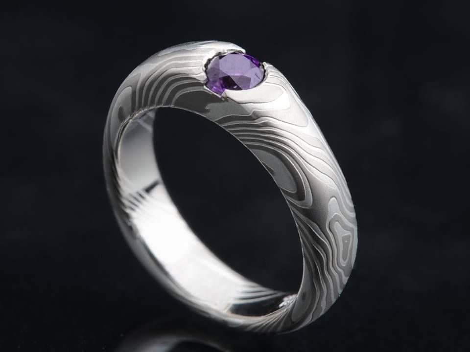 Moe Gane Diffe Layered Using An Ancient Anese Swordsmithing Technique Engagement Ring By James