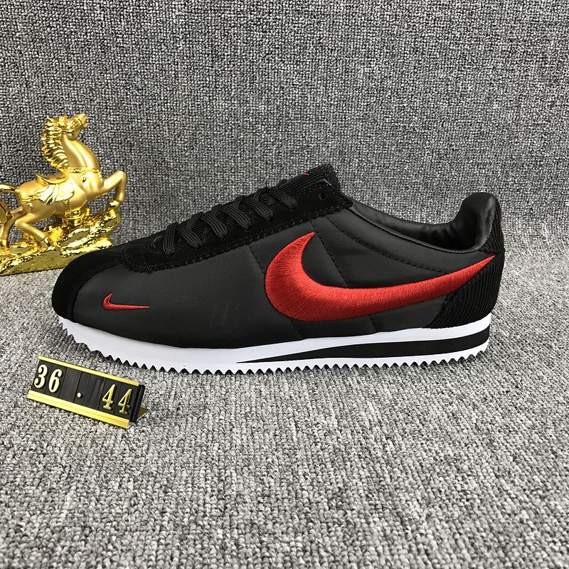 best cheap f70e3 8ed88 Nike Classic Cortez Nylon Embroidery Black Red