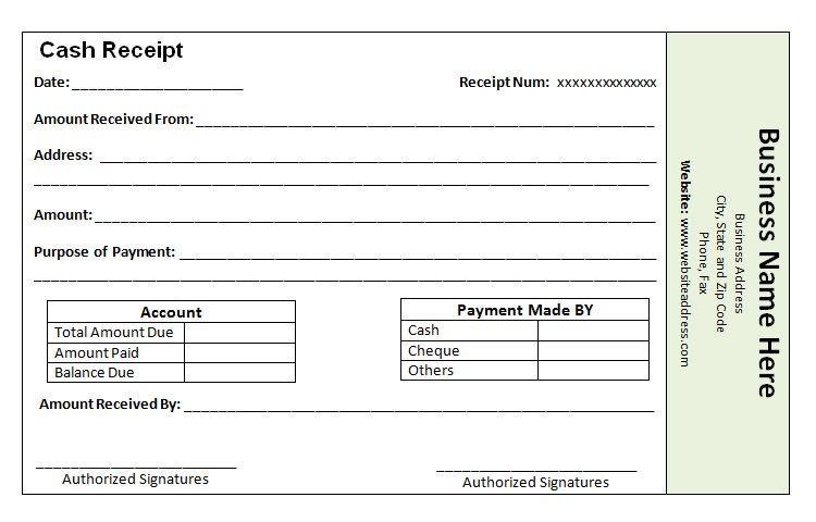 Cash Payment Receipt Template The Proper Receipt Format