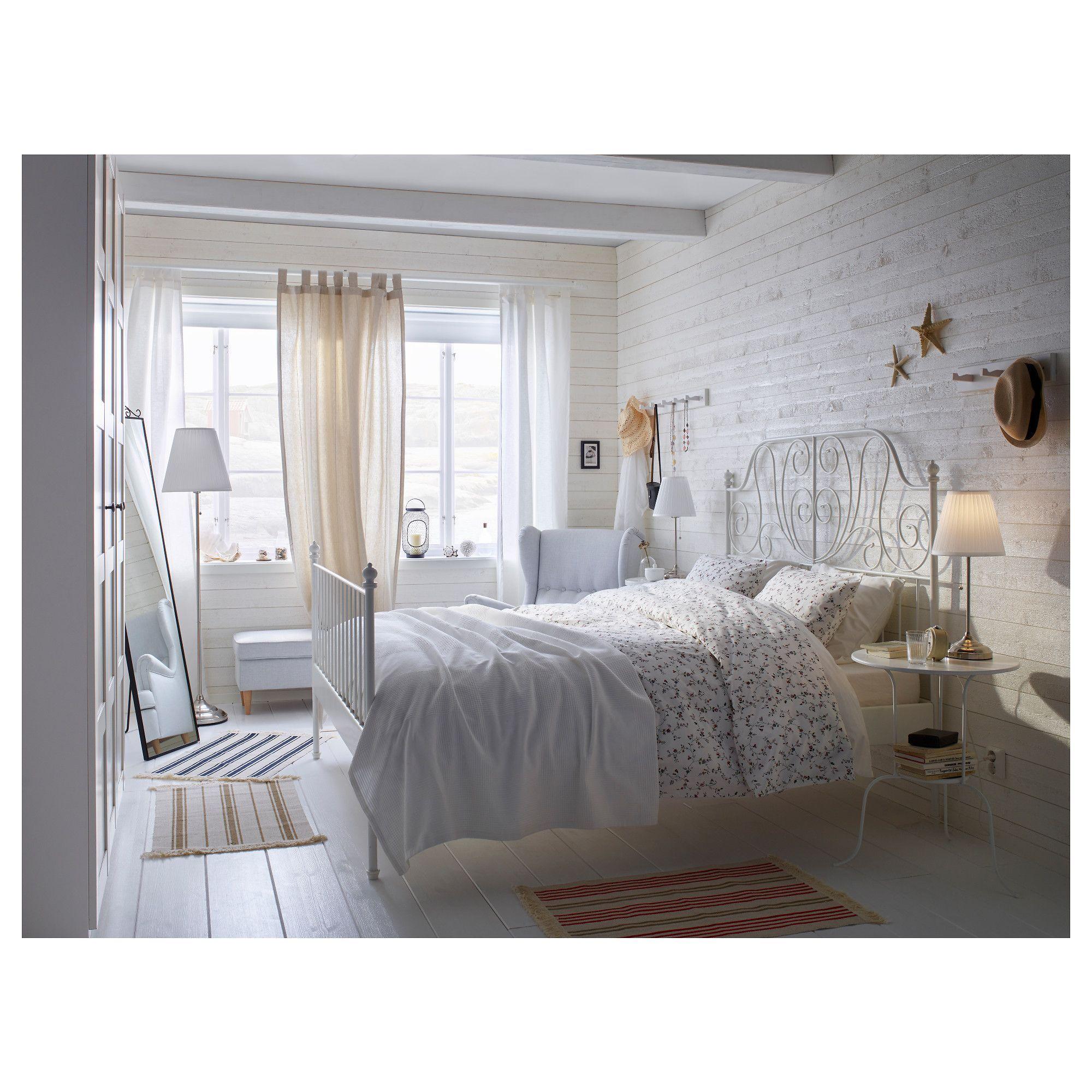 IKEA LEIRVIK Bed frame white, Espevär Bedroom project