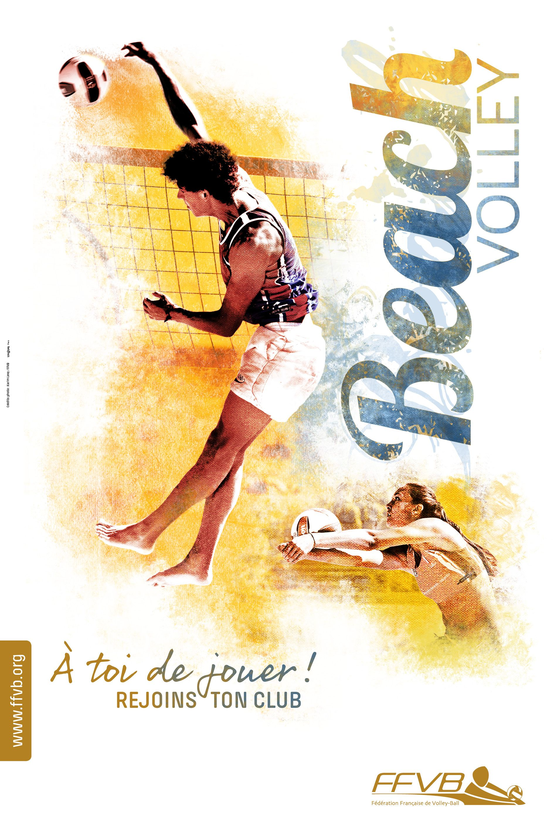 affiche rentr u00e9e des clubs volleyball beachvolley ffvb