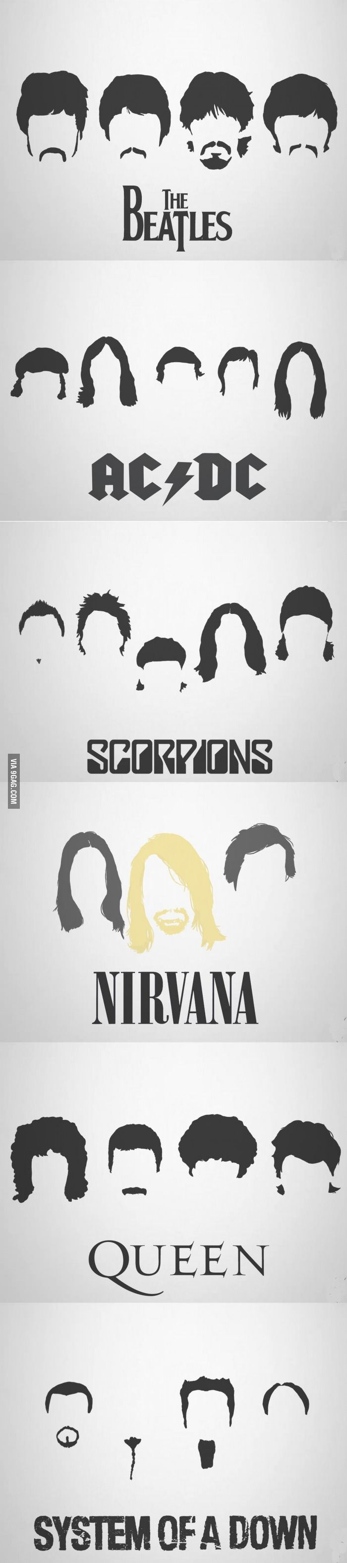 Epic Bands Epic Haircuts In 2019 Silhouette Cameo Ideas