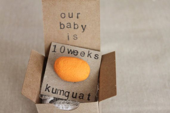 10 week Pregnancy Announcements, How Big Is My Baby, Gender Reveals, Baby  Size on Etsy, $10.99