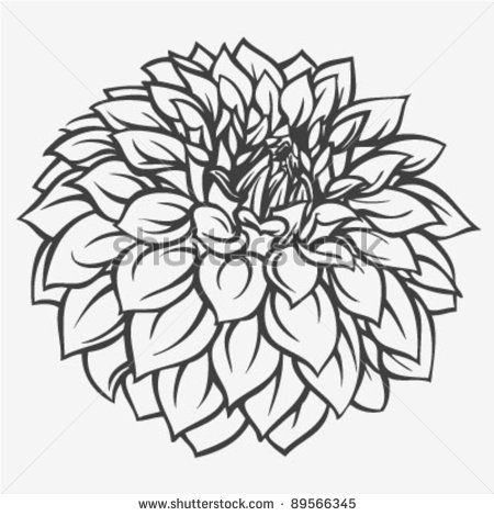 Letra Dahlia Colouring Pages Page 2 Drawings Flower Coloring