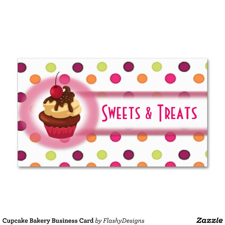 Cupcake Business Cards Zazzle Image collections - Card Design And ...