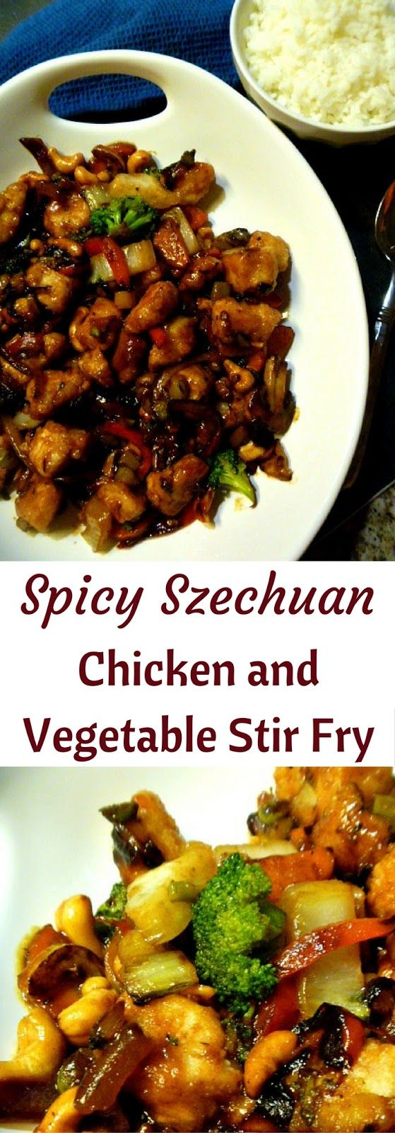 Spicy Szechuan Chicken and Vegetable Stir Fry