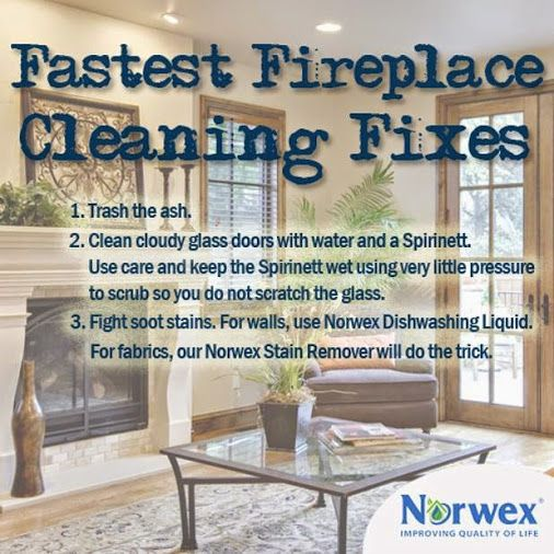 A Fireplace Can Be A Cozy Addition To Any Home But One Of The Inevitable Byp Norwex Norwex Dishwashing Liquid Clean Fireplace