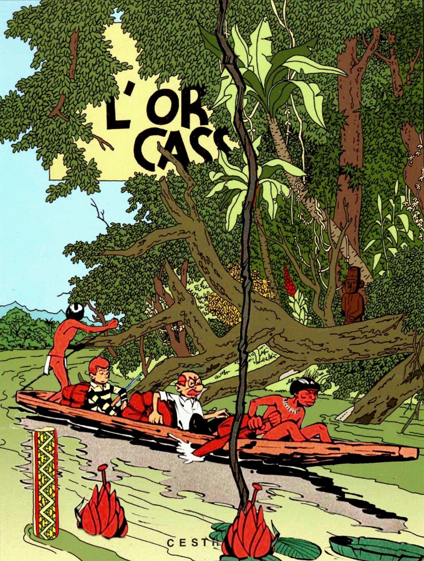 L Oreille Cassee Album Tintin Herge Bande Dessinee