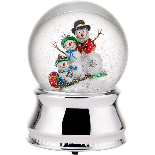 If The Kids Are Building A Family Of Happy Snowmen Out In The Front Yard Bring A Smaller Version Of Their Snowy Masterpiece Inside This Water Globe Is A