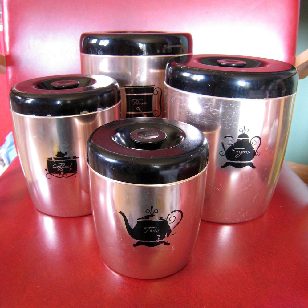 vintage west bend copper aluminum canister set retro kitchen