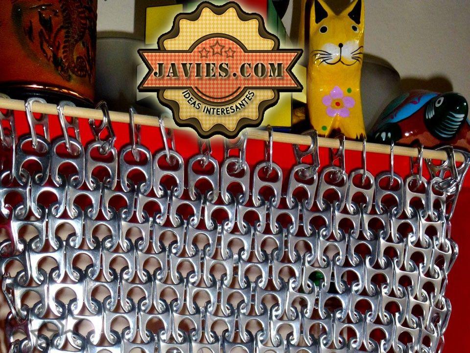 Como hacer una cortina con anillas de latas - Cortinas con anillas ...