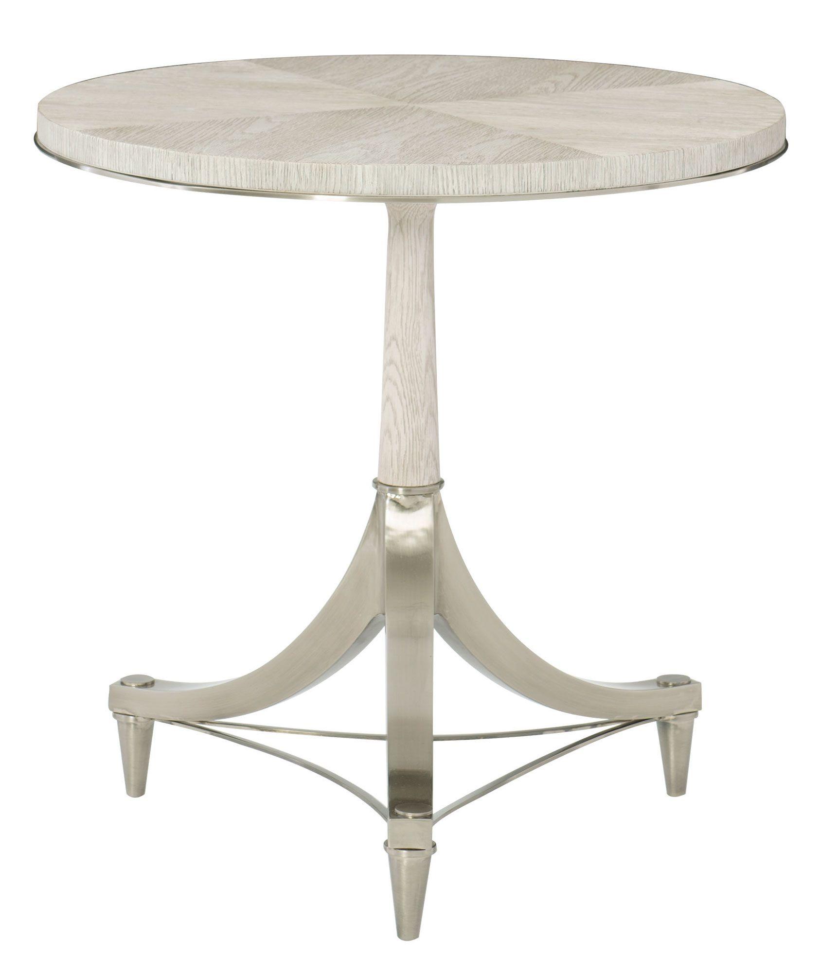 Round Pedestal Chairside Table Bernhardt