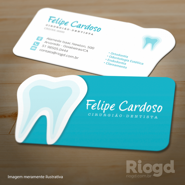 Cartão Slim - Corte Especial - Blue | Business card design ...