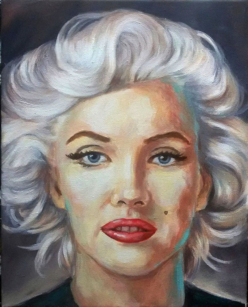 marilyn monroe portrait acryl modern kunst painting
