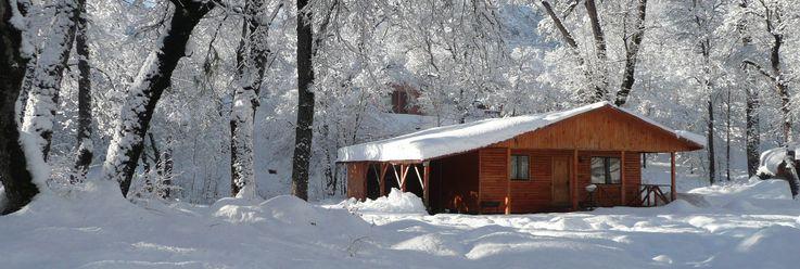 I'd love to go skiing in South America. Cabanas Los Andes, Las Trancas, Chile