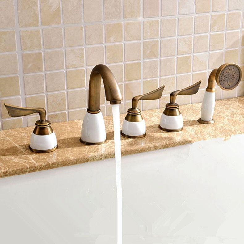 2016 Wholesale New Luxury Antique Brass Tub Faucet Traditional Old ...