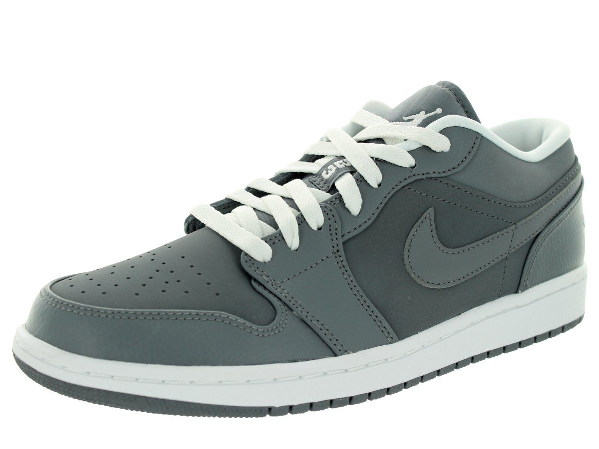 Nike Jordan Men s Air Jordan 1 Low Cool Grey White Cool Grey Basketball Shoe